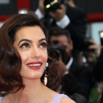 Amal Clooney wore a slinky gold dress that's giving us '90s school dance vibes