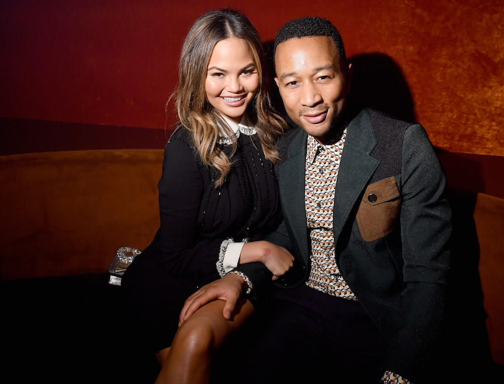 Chrissy Teigen just proved that her daughter Luna is pretty much identical to a baby John Legend, and it is too freakin' cute