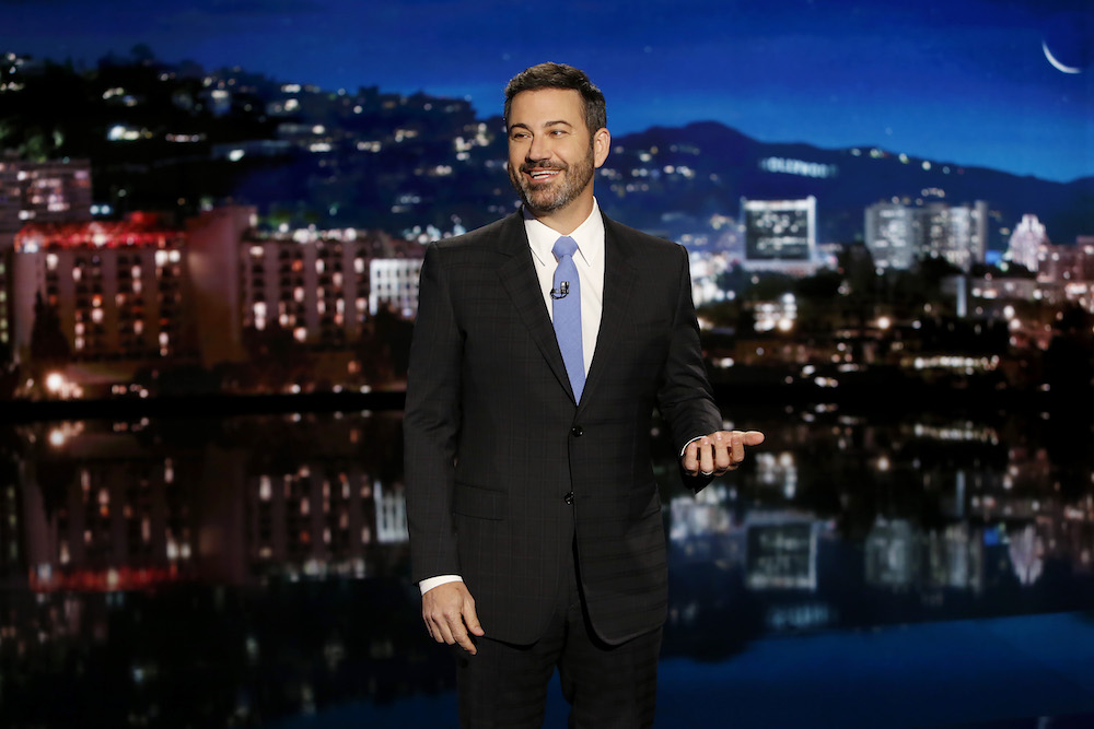 "Jimmy Kimmel just showed the world what he thinks of that ""Jimmy Kimmel Estrogen Hour"" bench ad"
