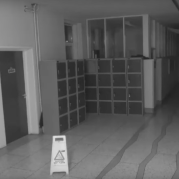 This school caught a ghost on camera, and our stomachs have dropped