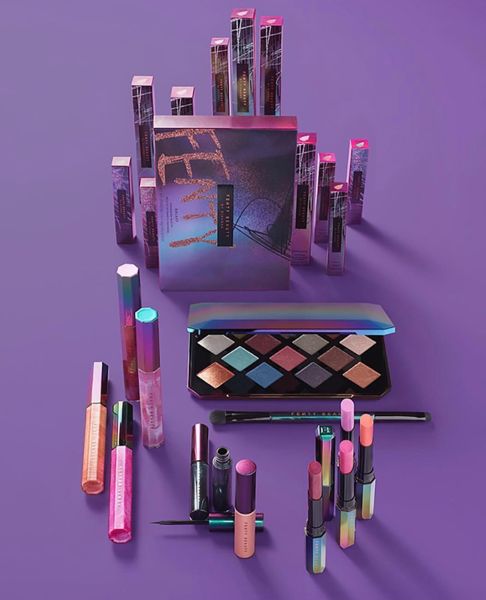 This makeup tutorial of Fenty Beauty's new galaxy collection is out of this world