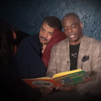 """LeVar Burton from """"Reading Rainbow"""" read """"Goodnight Moon"""" to Neil deGrasse Tyson and it's the best thing we've ever seen"""