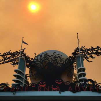 Here's what Disneyland looks like as a result of the fire spreading across the Anaheim Hills