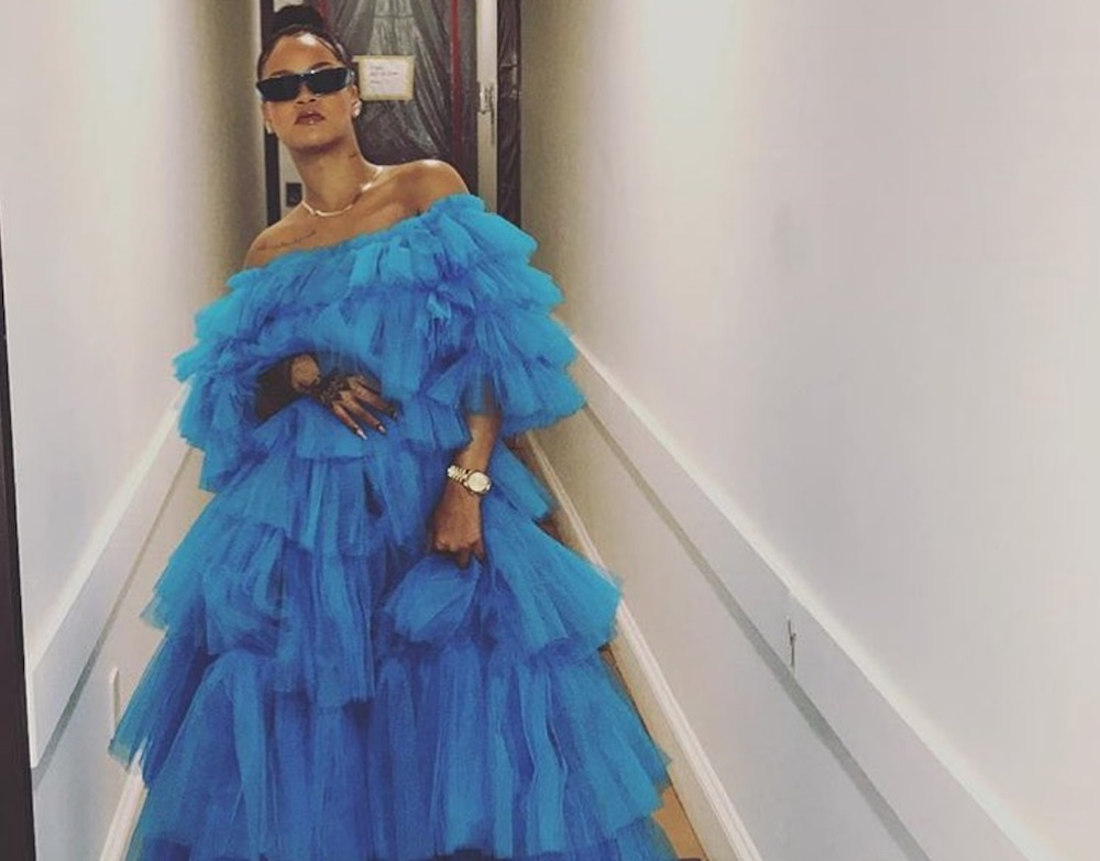 Rihanna's denim boots look like leg warmers, and honestly, is that trend back yet?