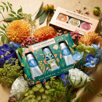 L'Occitane teamed up with an iconic stationery brand for its new shea butter collection