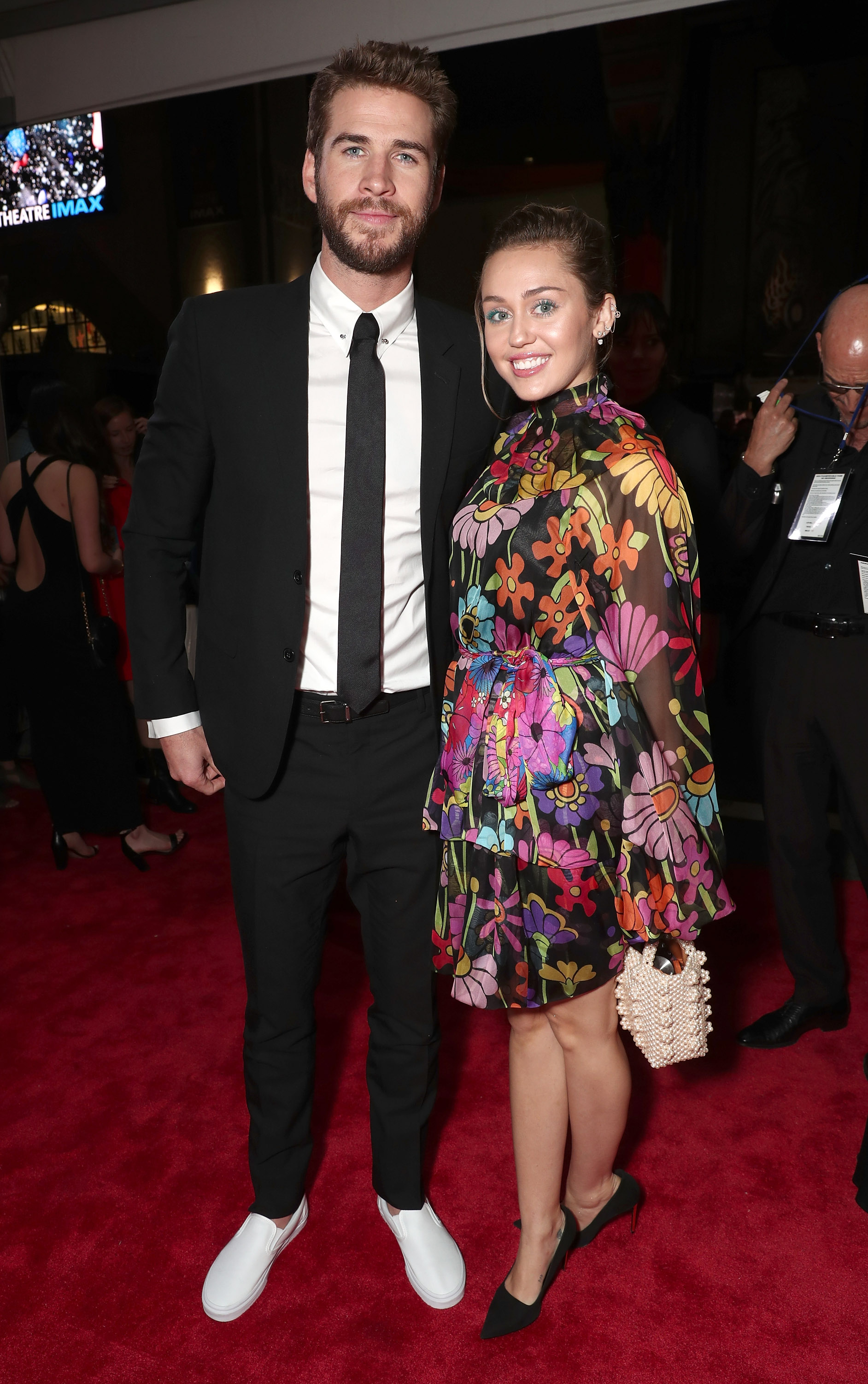 Miley Cyrus and Liam Hemsworth made a rare couples