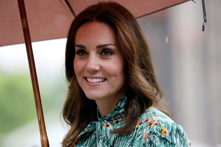 Kate Middleton debuted her baby bump