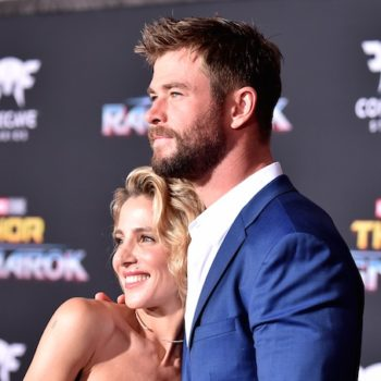 "Chris Hemsworth looked so in love with wife Elsa Pataky at the ""Thor: Ragnarok"" world premiere"
