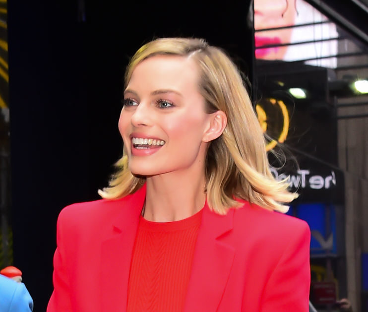 Margot Robbie's red-hot suit is one Jessica Rabbit would wear on a business trip