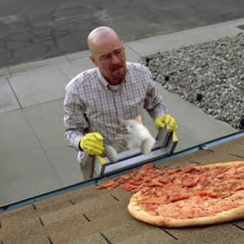 """Owners of the """"Breaking Bad"""" house are building a fence because people won't stop throwing pizzas"""