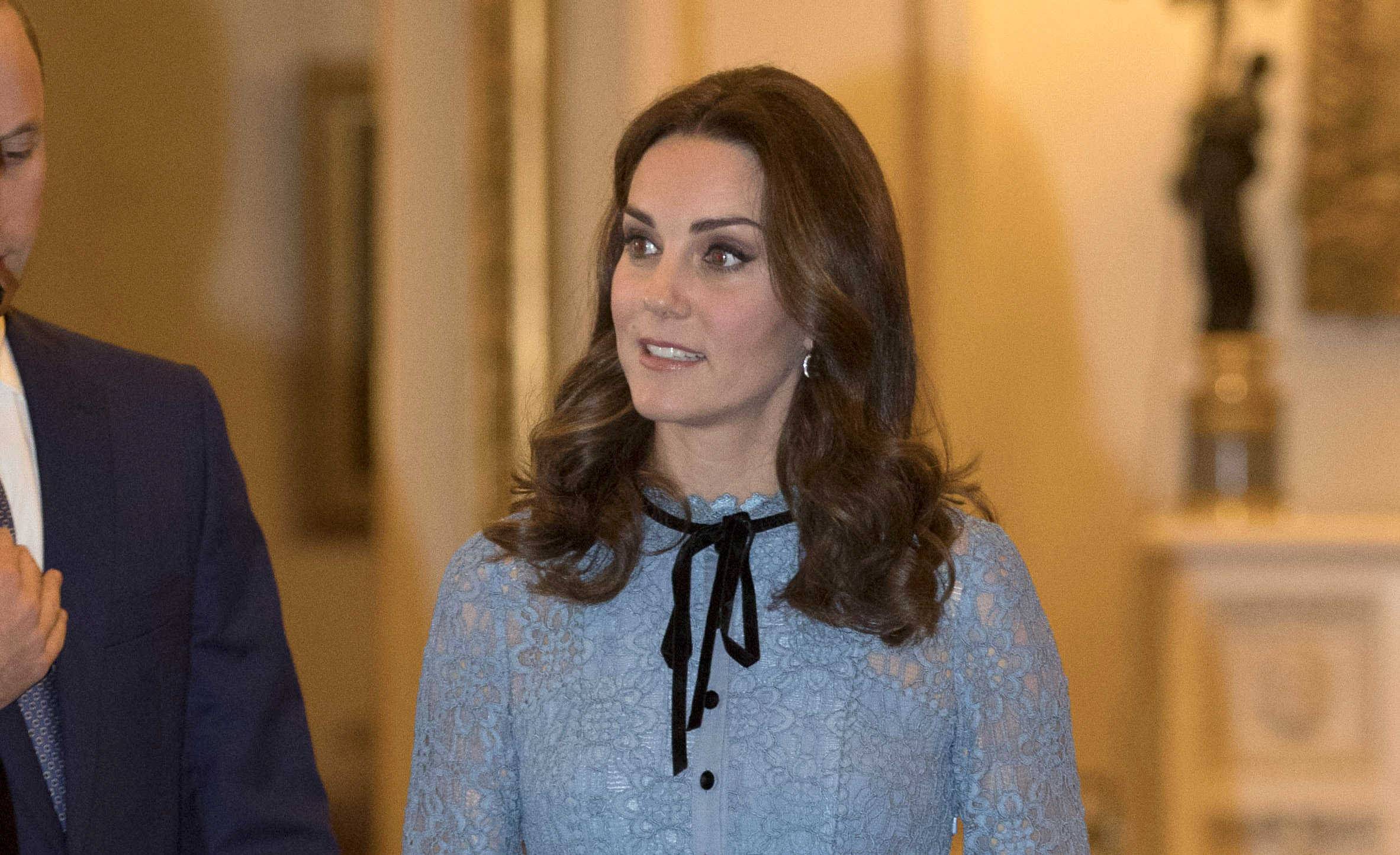 Kate Middleton's ice-blue lace dress is one of her best maternity pieces