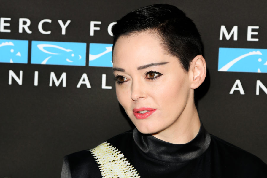 "Rose McGowan's Twitter account has been suspended, and she says, ""powerful forces are at work"""