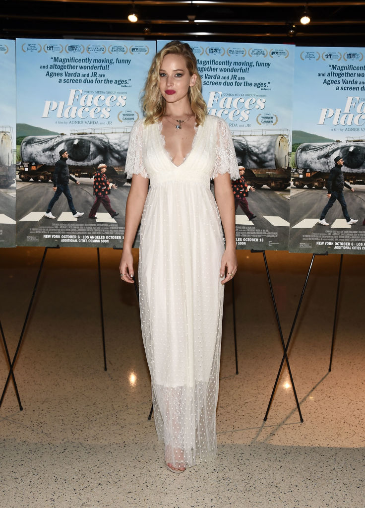 Jennifer Lawrence S Bohemian White Dress Is Fit For A