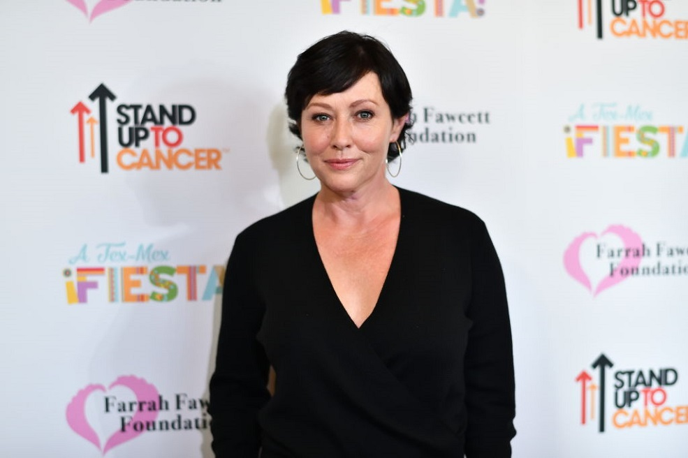 Shannen Doherty shared a photo of her losing her hair during chemo for Breast Cancer Awareness Month