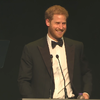 Prince Harry gave a speech about Princess Diana's famous handshake with an HIV-positive man