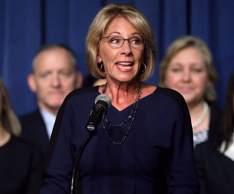 Democrats have unveiled a bill to fight Betsy DeVos' campus sexual assault guidelines