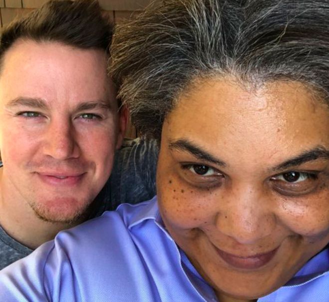 Roxane Gay and Channing Tatum are collaborating on something, and how are we so blessed?