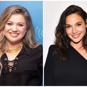 Kelly Clarkson has a huge girl crush on Gal Gadot, and same