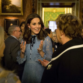 Kate Middleton made a surprise appearance at an event and danced with a giant bear