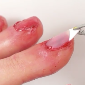 This Halloween manicure is putting our gag reflex to the test