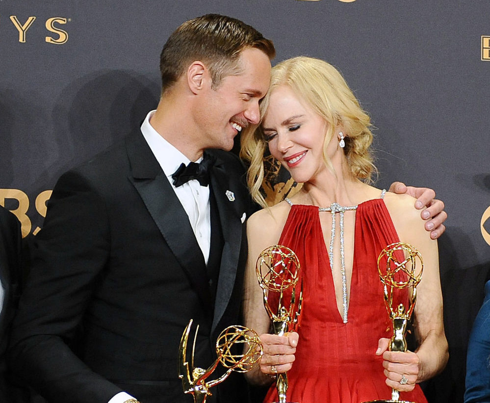 Nicole Kidman opened up about her infamous Emmys kiss with Alexander Skarsgard
