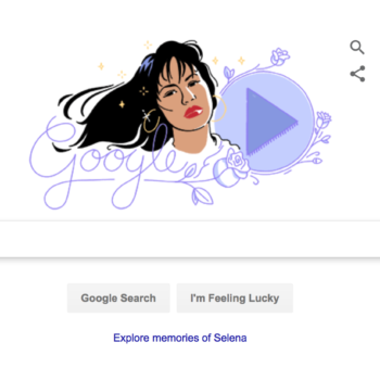 Today's Google Doodle celebrates the legacy of our beloved Selena Quintanilla