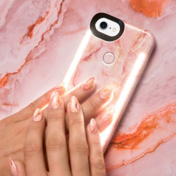 Now you can get trendy selfie phone cases to match your rose quartz collection