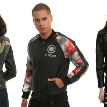 "Hot Topic has dropped a line of ""Justice League"" coats for when you need to save the world but also there's a slight chill"