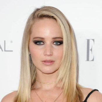 Jennifer Lawrence wore a lace nightgown on the red carpet to keep the lingerie trend alive