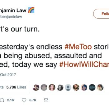 Men are responding to #MeToo with a hashtag of their own