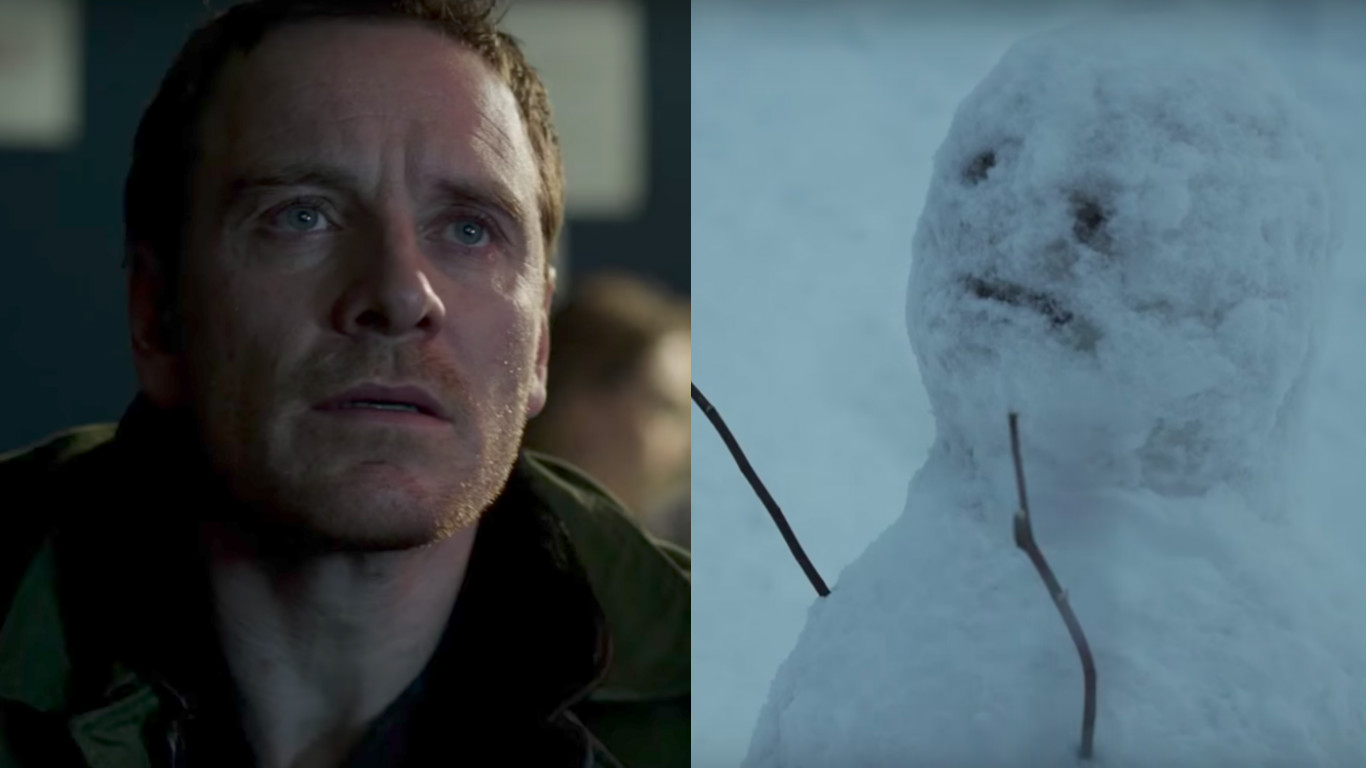 "Turns out, the snow *does* bother Michael Fassbender in his latest thriller, ""The Snowman"""