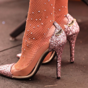 Too Faced's mascara-inspired heels, that are glittery AF, are finally available to shop