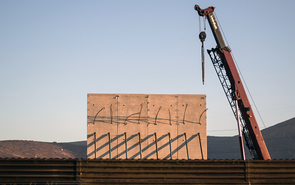 Border wall prototypes are being constructed outside of San Diego, just so you know