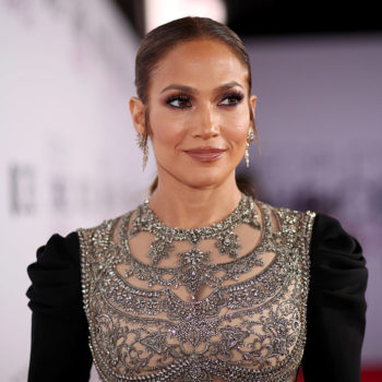 Jennifer Lopez drinks from a Swarovski crystal Starbucks cup, but don't be fooled by the rocks that she's got