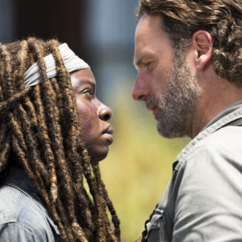 """Here's what Andrew Lincoln has to say about that gripping final line of """"The Walking Dead"""" premiere — and what it means for the season"""