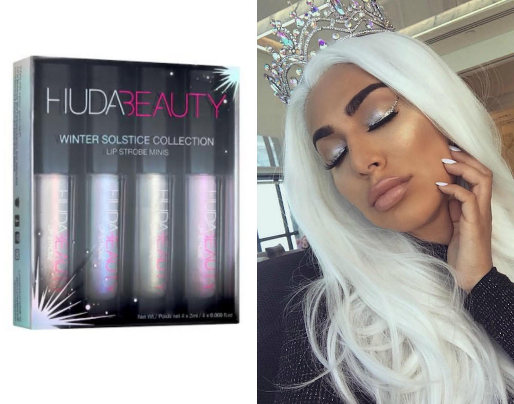 Huda Beauty's new Winter Solstice lip collection is fit for a snow queen