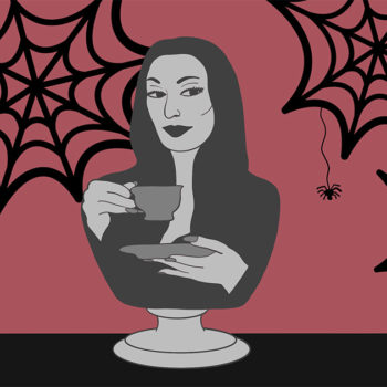 This one goes out to ultimate horror babe, Morticia Addams