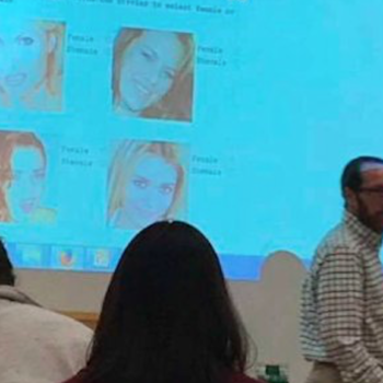 """A college professor gave a quiz titled """"Female or Shemale: Can You Tell?"""" — and yes, we're serious"""