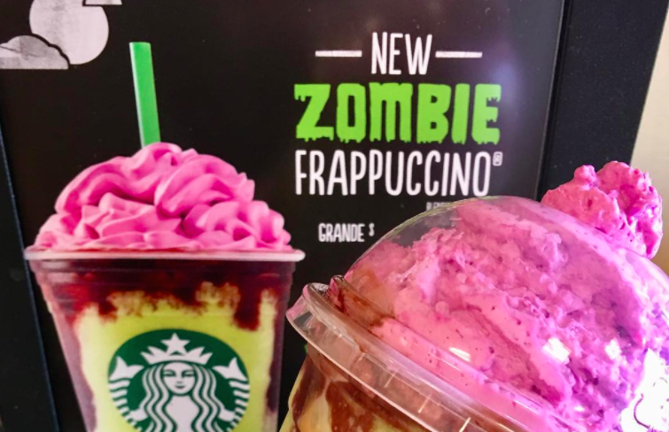 The Zombie Frappuccino at Starbucks is officially ALIVE
