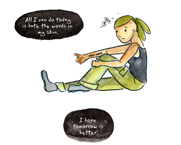 This comic shows that your job doesn't define you, but it's okay to feel depressed when you feel like you've failed