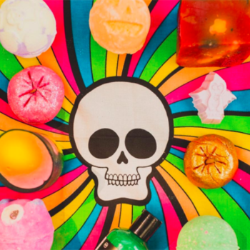 There's still time to grab this spooky, psychedelic wrap from Lush before Halloween