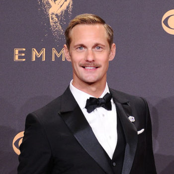 Alexander Skarsgard shaved a huge bald spot into his head, and his fans are Not Okay
