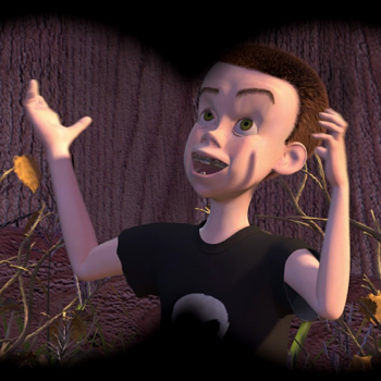 "Will Poulter went as Sid from ""Toy Story"" for Halloween, and the resemblance is actually uncanny"