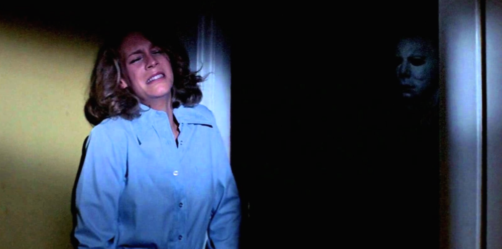 """This """"Halloween"""" teaser photo of Jamie Lee Curtis and Michael Myers will scare the bejeezus out of you"""