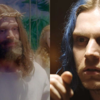 "And now for something completely different, Evan Peters played Jesus on ""American Horror Story: Cult"""