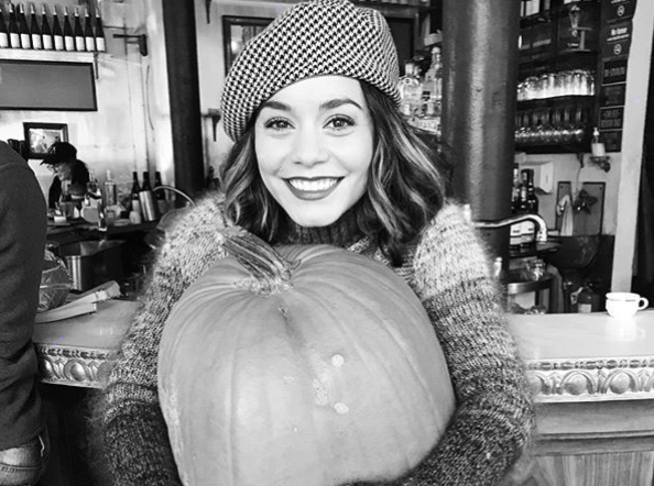 Vanessa Hudgens, queen of Halloween, had a shockingly simple costume this year