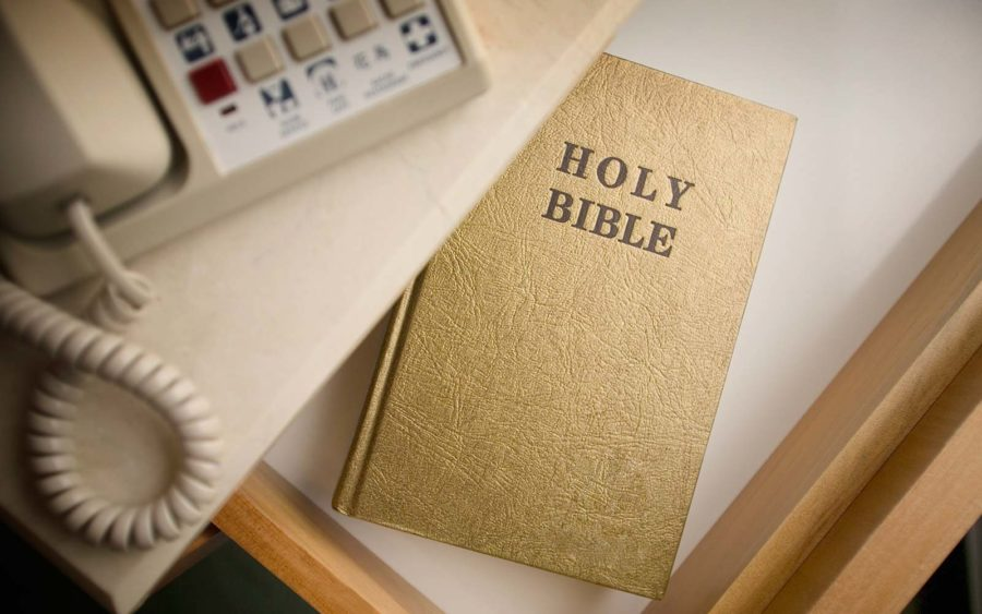 This is the reason why hotels no longer carry Bibles in their bedside drawers