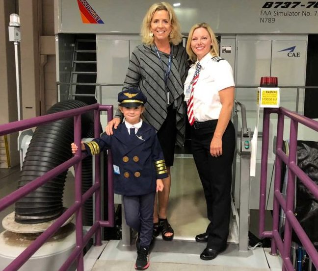 This 6-year-old girl wants to be a Southwest Airlines pilot so badly, she wears a uniform on every flight