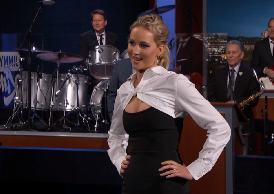 """Jennifer Lawrence crushed her opening monologue as guest host of """"Jimmy Kimmel Live"""" last night"""