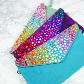 Make this rainbow crystal clutch for every Lisa Frank lover you know